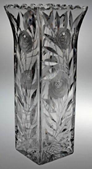 Cut Rose Dorflinger Vase