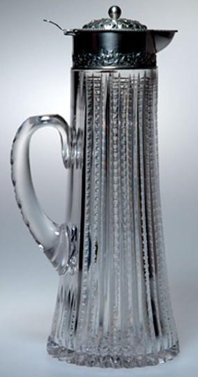 Glass & Silver Dorflinger Pitcher
