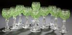 Lime Colored Dorflinger Glasses