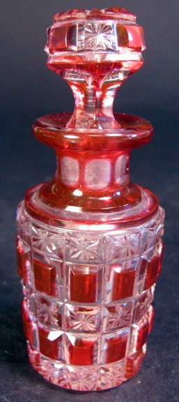 Red Dorflinger Bottle with Stopper