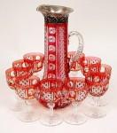 Red Dorflinger Set